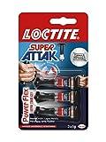 Loctite Super Attak Power Flex MINI TRIO GEL, adesivo trasparente e istantaneo specifico p...