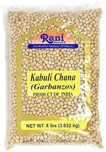 Rani Garbanzo Beans (Kabuli Chana) 8lbs (128oz) Bulk ~ All Natural   Vegan   Gluten Friendly   NON-GMO   Indian Origin