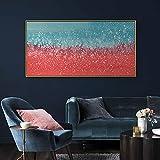 Póster nórdico abstracto panorámico hielo y abeto fusión de nieve arte de pared lienzo pintura impresión para dormitorio sala de estar decoración del hogar de gran tamaño 30x60 CM (sin marco)