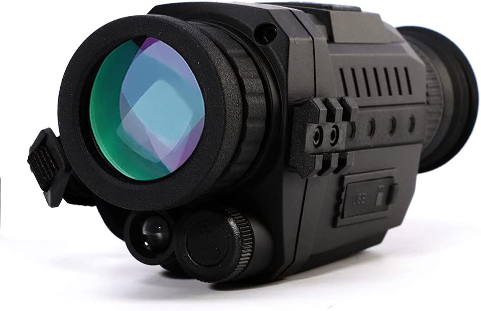 Nabila Monocular Night Vision 5X35 Optic Night Monoculars Digital Night Vision Infrared HD Telescope with Take Photo/Video Recording/Playback/Function for Outdoor/Surveillance/Security/Hunting/Hiking