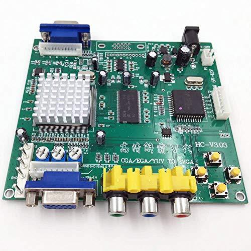 BLEE Arcade Game RGB CGA EGA YUV to VGA HD Video Converter Board 1 VGA Single Output for CRT LCD PDP Monitor