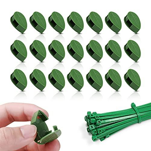 100 Stück Pflanzenclips,kletterpflanzen clip,pflanzenclips selbstklebend,Pflanzenklammern klein,kabelbinder Pflanzen,Pflanzenclips für Kletterpflanzen Wand,Pflanzenstützen Clips