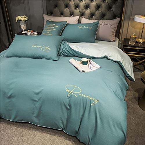 ZMQBY duvet set Home textiles 4 Pieces set bedding embroidery quilt cover 1.8 m 2.0 m-H_200 x 230 cm