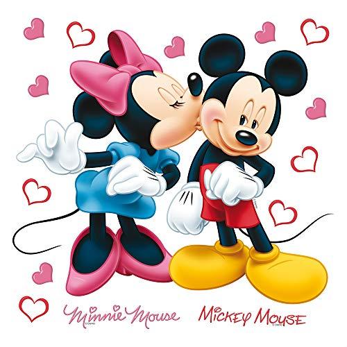 AG Design DKs 1085 Disney Micky Maus, Wand Sticker, Papier, Mehrfarbig, 30 x 30 cm