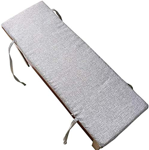 ping bu Cojín para banco al aire libre, cojín para columpio de jardín, tapete largo para banco grueso y suave con cremallera para sofá de interior, 2 3 plazas (gris claro, 100 x 35 x 2 cm)
