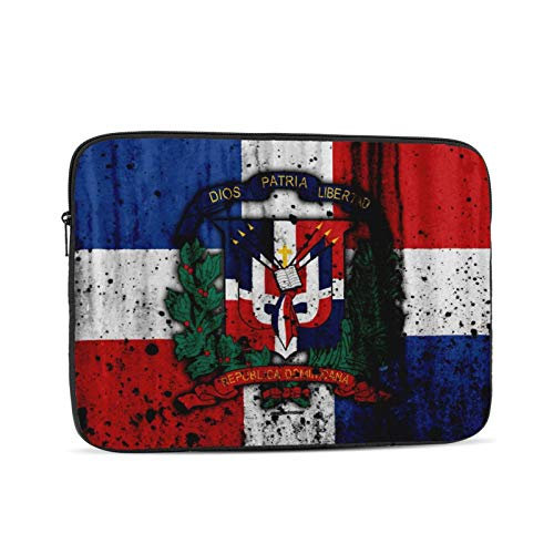 KXT Coat of Arms Dominican Republic Flag Laptop Sleeve Case,Briefcase Cover Protective Bag,Ultrabook Netbook Carrying Handbag for Women Men