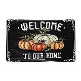 Felpudo para la entrada de Halloween, felpudo absorbente, diseño de calabaza, para Halloween, 40 x 60 cm