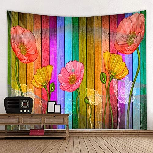 KHKJ Tapiz con Estampado de Flores de Mariposa 3D, Tapiz de Mandala, Toalla de Playa Redonda Boho, Manta de protección Solar, Bohemia A2 150x130cm