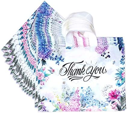 50 Pcs Thank You Gift Bag Merchandise Bags Plastic Bags for Boutique Gift Grocery Clothing Size product image
