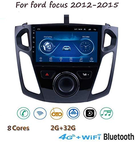 Radio De Navegación De Música Gps Android 8.1 Estéreo, Para Ford Focus 2012-2015, Reproductor Multimedia Con Pantalla Táctil Hd De 9