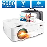 Mini Proyector WiFi Bluetooth 6000 Lúmenes, Artlii Enjoy2 Mini Proyector...