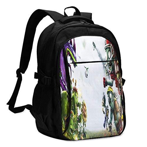 Mochila para ordenador portátil, antirrobo, resistente al agua, puerto de carga USB, compatible con portátiles y viajes escolares