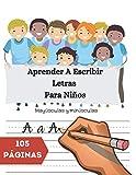 Aprender A Escribir Letras Para Niños - Mayúsculas y minúsculas: Ejercicios De Escritura Para...