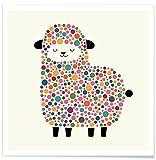 Juniqe® Kinderzimmer & Kunst für Kinder Schafe Poster