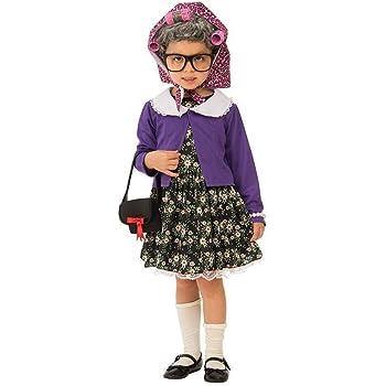 Rubies - Disfraz de pequeña mujer vieja para niña, talla 3-4 años ...