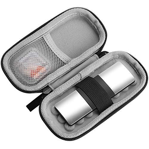 Procase Estuche para Alivecor Kardia Mobile ECG/Kardia Mobile 6L, Funda Protectora para Monitor Cardíaco Móvil Carry Pod con Pastillero y Mosquetón (NO Incluye el Dispositivo de EKG) -Plata