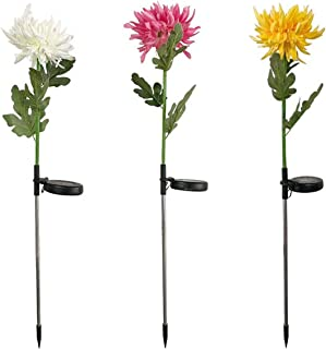 3PCS LED Solar Flower Stake Lights Outdoor Garden Path Party Yard Landscape Lamp (3pcs multicolor)