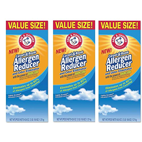 Arm & Hammer CDC 84113 42.6 oz Carpet and Room Allergen Reducer and Odor Eliminator, Shaker Box (3)