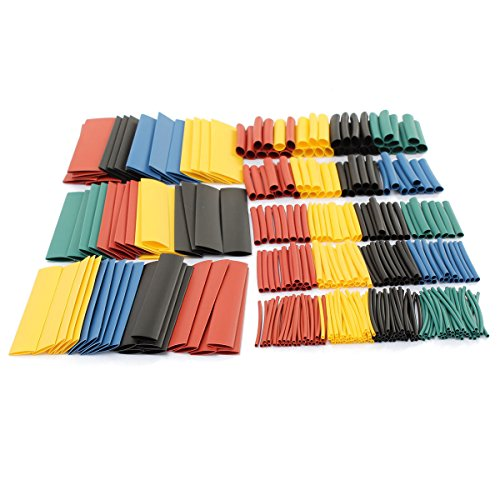 Heat Shrink Tubing 328pcs Wire Wrap Cable Sleeve Assortment Ratio 2:1 Electric Insulation Tube - Multicolor