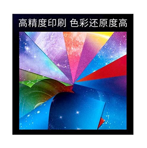 Papel de cielo estrellado, papel de color de flor de cerezo, origami cuadrado, papel de constelación de doble cara, origami de doce constelaciones de mil grullas de papel-A2