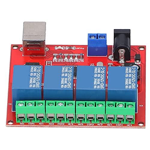 Bediffer Placa PCB 4-Channel Computer USB DC 12V Switch Relay Module para ordenador portátil para PC