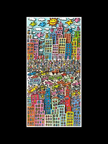 Stick It On Your Wall James Rizzi–Back in Brooklyn Mini Poster–40x 40cm