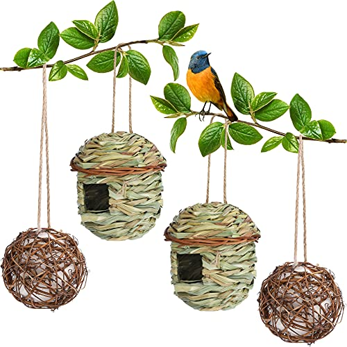 ADXCO 2 Hummingbird Houses Hummingbird Nesting Houses Outside Grass Hand...