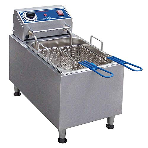 Globe PF10E 10-Pound Electric Countertop Fryer, NSF