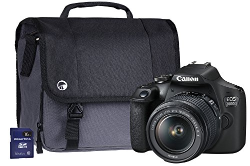 Canon EOS 2000D SLR Camera Kit with EF-S 18-55 mm IS Lens/16 GB SD Card and...