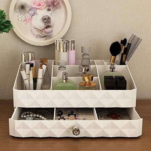 ZQY make-up opbergdoos sieraden en cosmetica opbergdoos grote capaciteit voor verschillende maten cosmetica borstel palet lippenstift 1 lade 9 raster (klein)