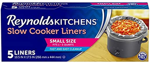 Reynolds Kitchens Premium Small Slow Cooker Liners, 10.5x17.5 Inch, 5 Count