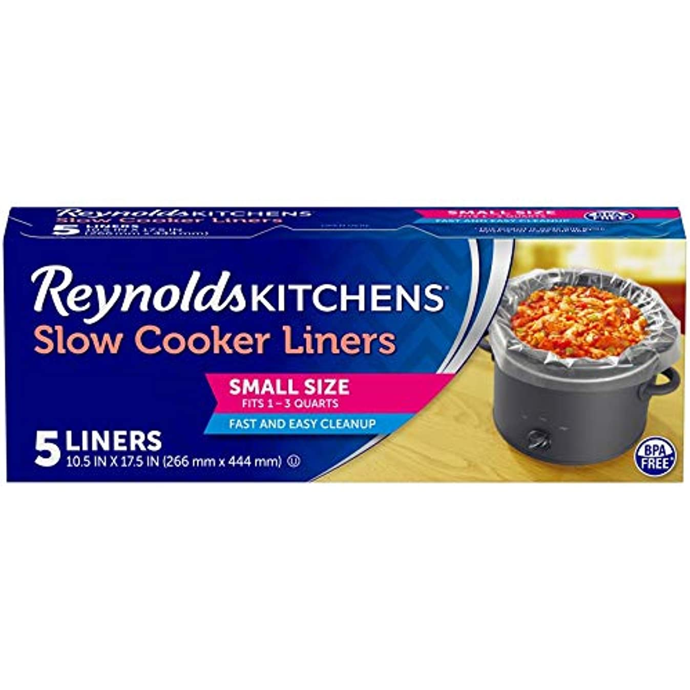 Reynolds Kitchens Small Size Slow Cooker Liners - 10.5x17.5