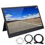 Pantalla de Monitor HD 1080P, 13.3in 60Hz Ultra-Thin Portable USB 1920x1080 Wide Monitor Display con Soporte magnético Estuche Protector para computadora portátil, teléfono, PC