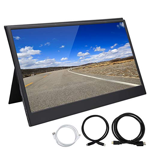 IPS-Bildschirm Ultra-Thin 1080P HD-Monitor Tragbarer 13,3-Zoll-Monitor für Laptop-Telefon PC Mac