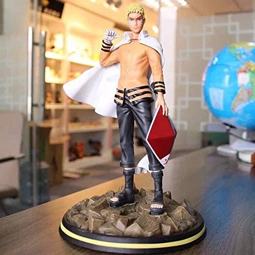 Hermosa Shanping Anime Carácter Estatua Naruto Resonancia Serie Naruto Naruto Siete Generaciones de Fuego Sombra Estatua Mano, Modelo Mano Regalo de Cumpleaños Decoración de Escritorio Material de PVC