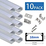 10pcs * 100cm LED Aluminio Perfil de ancho para...