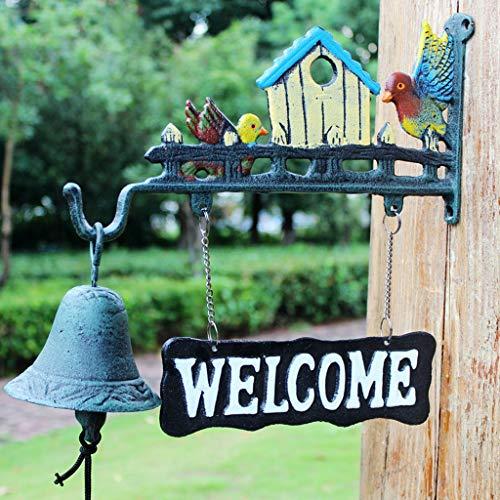 CKH creatieve pastorale stijl gietijzeren deurbel bel bel opknoping ornamenten winkel muur decoratie Tieyi hand schommel bel