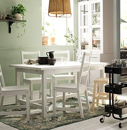 BestOnlineDeals01 NORDVIKEN Silla Blanca, 44x56x97 cm duradera y fácil de cuidar. Sillas de comedor. Sillas. Muebles. Respetuoso con el medio ambiente.