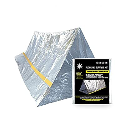 Emergency Survival Shelter Tent | 2 Person Mylar Thermal Shelter | 8' X 5' All Weather Tube Tent | Reflective Material| Lightweight | Waterproof | Best Survival Gear from SharpSurvival