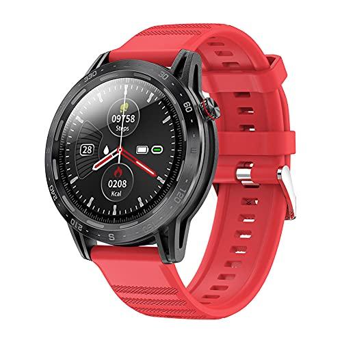 ZOZIZZ Reloj Inteligente, Reloj Inteligente a Prueba de Agua IP68 con Reloj de Fitness con Pantalla táctil Completa a Color Grande de 1.3 '' con Monitor de frecuencia cardíaca,A