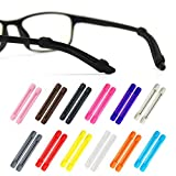 Alamic Eyewear Retainer Eyeglass Temple Tip for Kids and Adults Silicone Anti Slip Holder for Glasses Piece Ear Hook - 12 Pairs