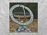 IDYL Reloj solar para exteriores, de bronce, de alta calidad y llamativo, n.º 0184, dimensiones: 42 x 40 x 50 cm