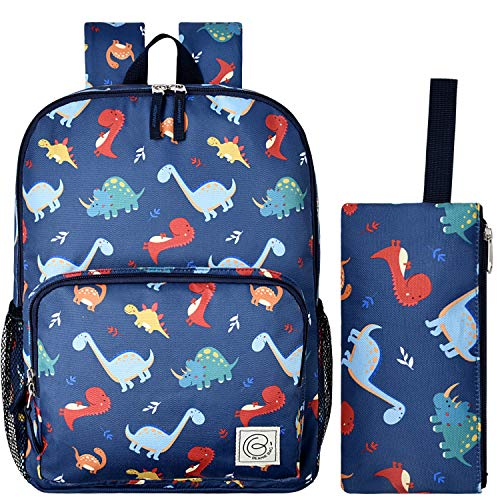 Dinosaur Backpack for Boys and Girls with Pencil Case, Travel School Bag...