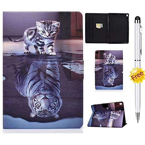 KSHOP Kompatibel mit Hülle Case Cover für Amazon Fire HD 8 Tablet and Fire HD 8 Plus Tablet (10th Generation. 2020 Release) Touchscreen-Stift Case Cover Tiger