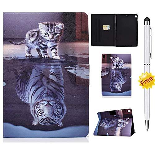 KSHOP Compatible con Funda Amazon Kindle Fire HD 8' 2020 / HD 8 Plus (10ª generación) Carcasa Case Cover con lápiz táctil Delgado y Ligero Tigre