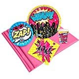 BirthdayExpress Superhero Girl Party Supplies - Party Pack for 24