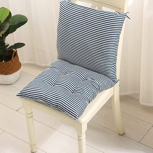 QINDONG Cojín de lino de una pieza estilo chino para oficina, estudiante, silla de casa, cojín 7 40 x 40 cm