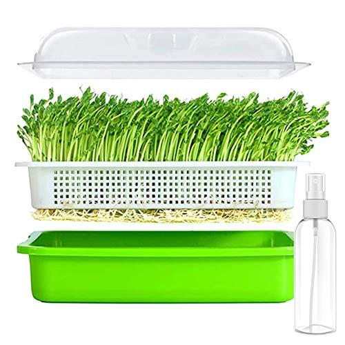 PGYARD Saatgut-Spießtablett, schmutzfrei und große Kapazität, ideal für Züchter, Katzengras, Bohnensprossen, Weizengras, Mungbohnen und mehr, BPA-frei