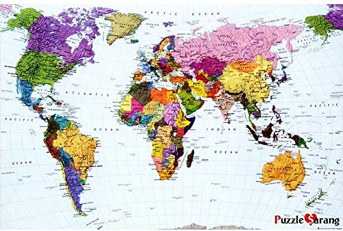 XiuTaiLtd Worldmap-1000 Pieces of Puzzles for Children, for Friends