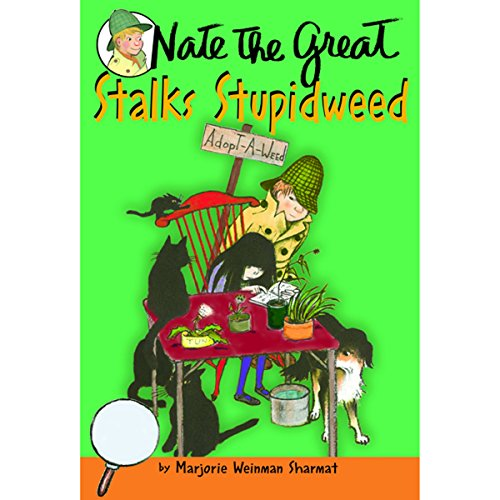Nate the Great Stalks Stupidweed audiobook cover art